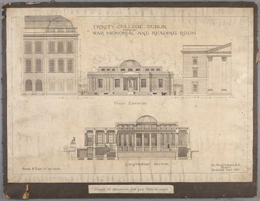 Architectural Designs for Trinity College Dublin Hall of Honour