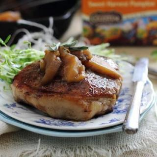Tea Glazed Pork Chops & Apples