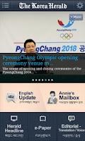 Screenshot of The Korea Herald