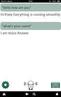 Screenshot of Voice Answer - like Siri in 3D