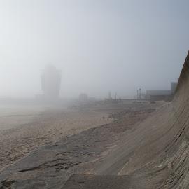 Aberdeen Beach by Ian Jukes - Landscapes Beaches ( fog, weather, beach, aberdeen, sea defences, mist )