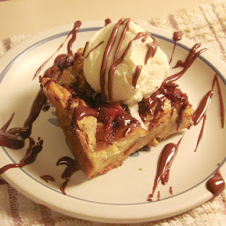 Bourbon and Bacon Chocolate Chunk Bread Pudding