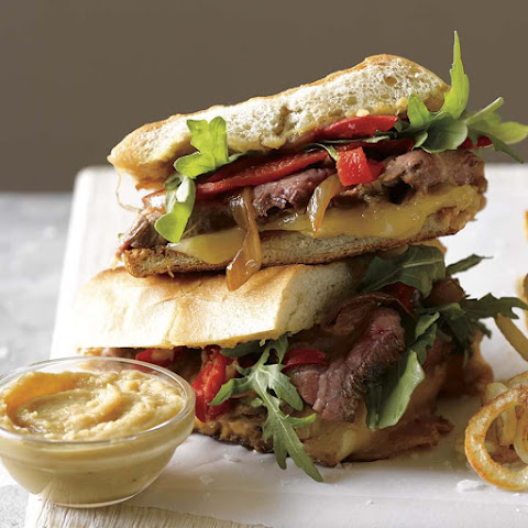 Cheesy Steak Panini with Caramelized Onions