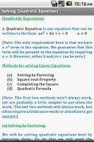 Screenshot of Algebra Cheat Sheet (Free)