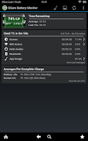Screenshot of GSam Battery Monitor