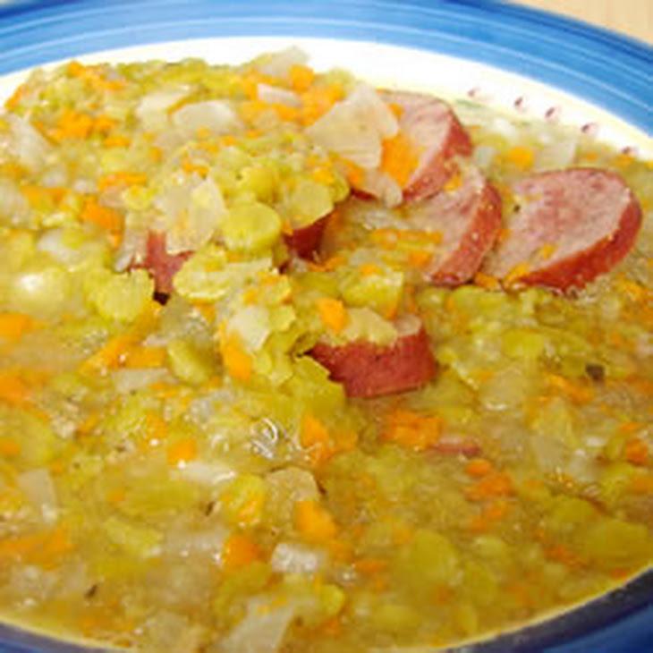 Slow Cooker Split Pea Sausage Soup Recipe | Yummly