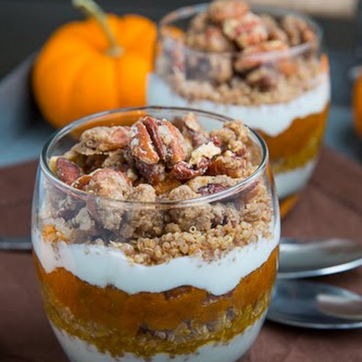 Pumpkin Pie Quinoa Parfait With Gingersnap Pecan Streusel Recipes ...