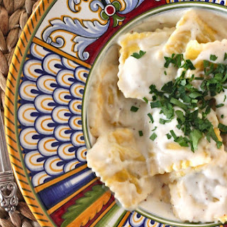 Pumpkin Ravioli with Bechamel Sauce