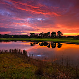 Indiana Dawn 02 by Dave Sansom - Landscapes Sunsets & Sunrises ( 'professional golf course photography', 'private golf club', 'crxooked stick', 'golf course', 'professional golf course photographer', golf, 'dave sansom' )