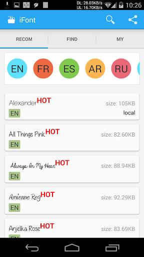 iFont(Expert of Fonts) Screenshot