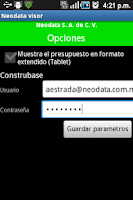 Screenshot of Neodata Visor PU