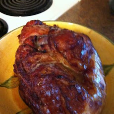 Bone-In Ham on the Barbecue With Honey-Butter Glaze