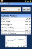 Screenshot of Stock Analyst Free