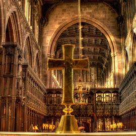 Manchester Cathedral by Stephen Hall - Buildings & Architecture Places of Worship ( altar, church, cathedral, manchester, cross )