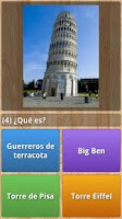 Screenshot of Monuments Quiz
