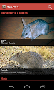 Field Guide to WA Fauna - screenshot