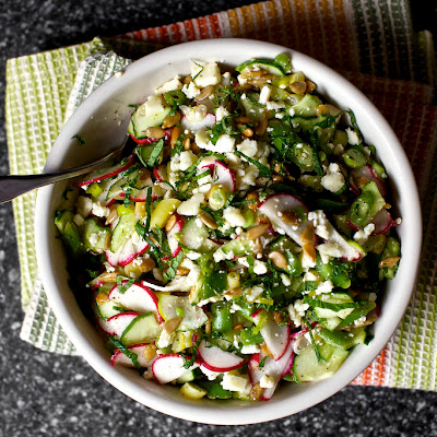 Chopped Salad With Feta, Lime And Mint