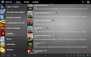 Screenshot of Media Hub – Samsung Tab (VZN)