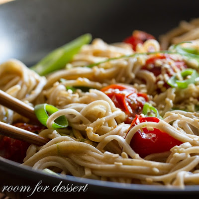 Miso-Roasted Tomatoes with Soba Noodles