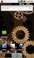 Screenshot of Steampunk Gears Live Wallpaper