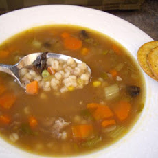 Beef Barley Soup in the Slow Cooker