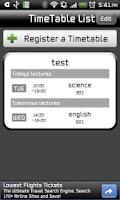Screenshot of Smart TimeTable