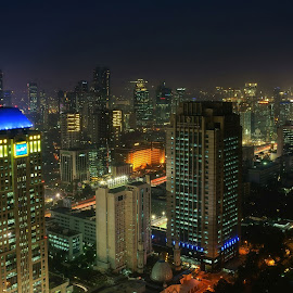 skl #s03 by Tt Sherman - City,  Street & Park  Skylines ( cityscapes, skyline, night scene, indonesia, jakarta, night shot, nightscape, city )