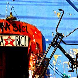 pura bici by Baptiste Riethmann - Transportation Bicycles ( fotografía, bike, blue, baptiste riethmann, nikon, photo, bici, photography, bicycle )