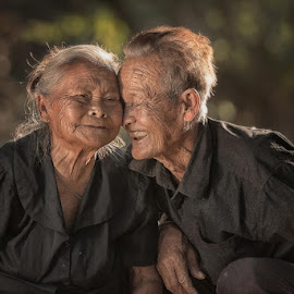 What a couple by Edmund Fellinger - People Couples ( #older couple, #couple, #couples, #human, #older people )
