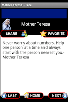 Screenshot of Mother Teresa Quotes - Free