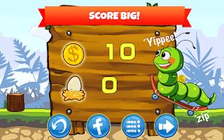 Screenshot of Crazy Larva Run