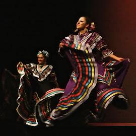 Folklorico Dancers - Digital Oil by Steven Aicinena - Digital Art People (  )
