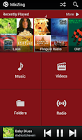 Screenshot of MixZing Music Player