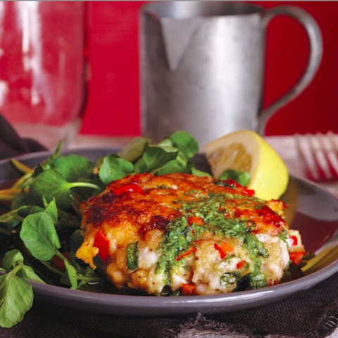 Trout Cakes With Basil Vinaigrette