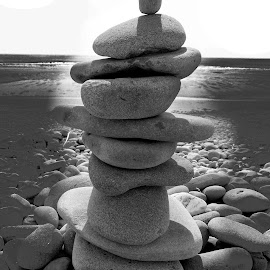 Stones of peace by Ty Williams - Nature Up Close Rock & Stone ( sand, spiritual, sea, ocean, pebbles, stack, stones )