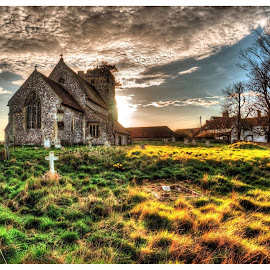 Beddingham Church, East Sussex by Chris Hall - Buildings & Architecture Places of Worship