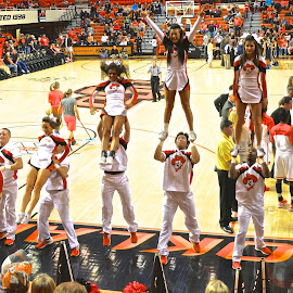 Basketball cheerleaders by Kathy Suttles - Sports & Fitness Basketball