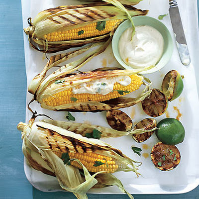 Grilled Corn on the Cob with Chile and Lime