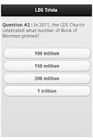 Screenshot of LDS Trivia