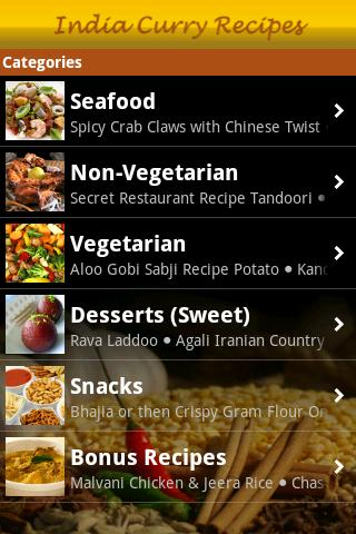 India Curry Recipes