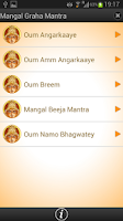Screenshot of Mangal Graha Mantra