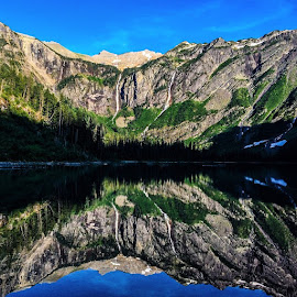 Avalanche Lake, GNP-2014 by Rick Theis - Landscapes Mountains & Hills ( glaciernationalpark, montana, reflection, goingtothesunroad, avalanchelake, rei, menofoutdoors, marmot, thenorthface, thecoolhunter,  )