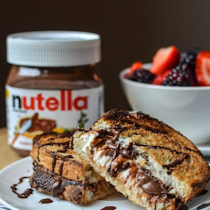 Hot Baked Nutella & Cream Cheese Sandwich