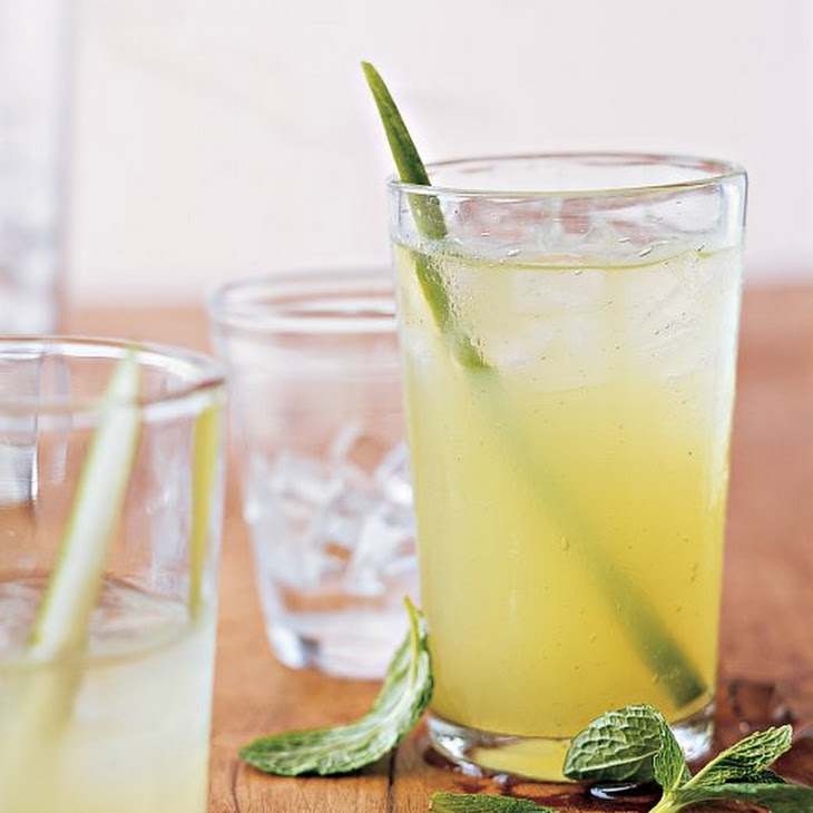 Mint, Cucumber, and Vodka Cocktails