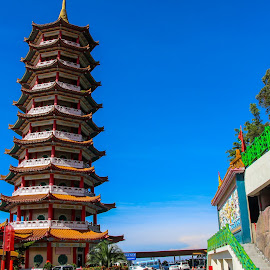 My T at genting by Syahrul Nizam Abdullah - Buildings & Architecture Places of Worship ( temple, blue sky, pagoda, chinese new year, chinese )