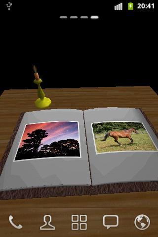 フォトブックの3Dライブ壁紙