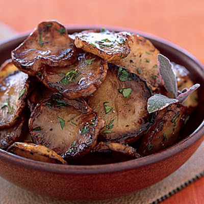 Pan-Fried Jerusalem Artichokes in Sage Butter