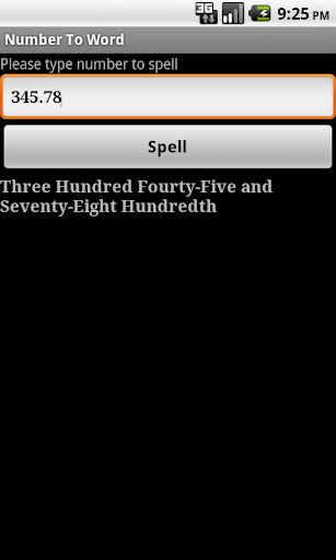 Spell Numbers