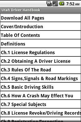Utah Driver Handbook