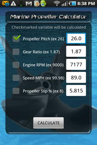 Boat Propeller Calculator